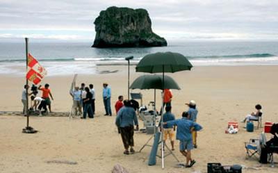 Escenario de cine «PLAYA DE BALLOTA»